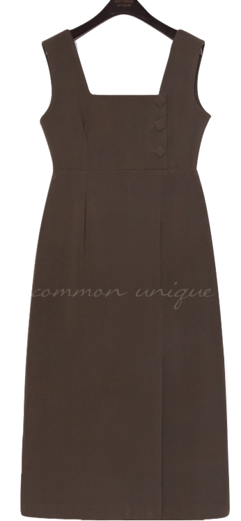 FLAT BUTTON SLIT OVERALL LONG OPS