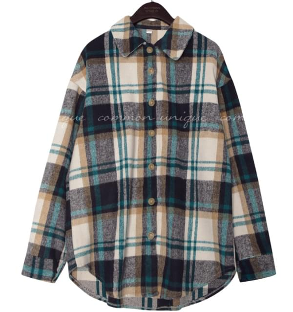 WARM CHECK SOFT BOXY SHIRTS