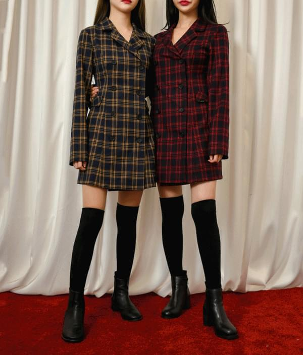 Lonely Check Jacket Dress
