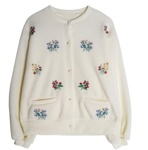 Snow Flower Pearl Cardigan