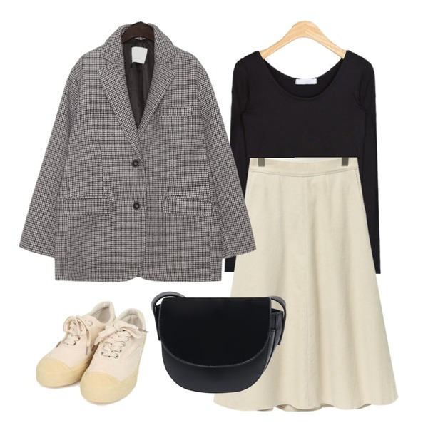 From Beginning Corduroy long flare skirt_B (size : free),common unique HOUND WOOL 70% BOXY JACKET,AIN soft high span T등을 매치한 코디
