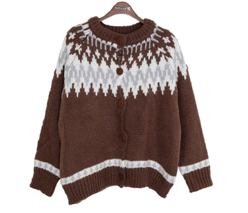 Wool Coming Nordic Knitted Cardigan