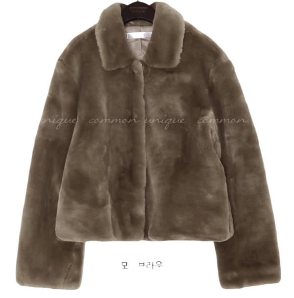 COCO HIDDEN SNAP FUR JACKET