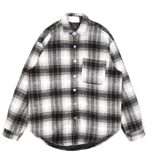 glen check padding shirts - UNISEX