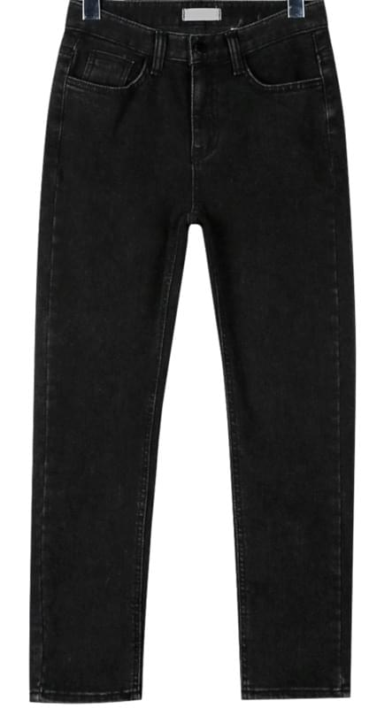Black slim napping jean