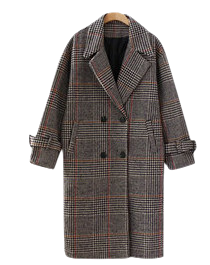 I love check coat