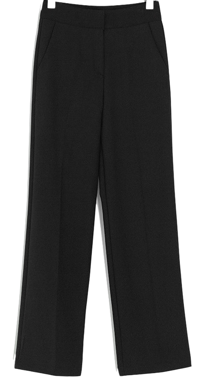 warm straight slacks