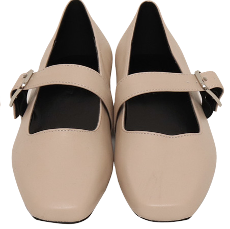 Skin color mary-jane shoes_J