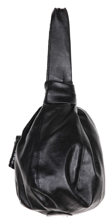 one-handle leather round bag