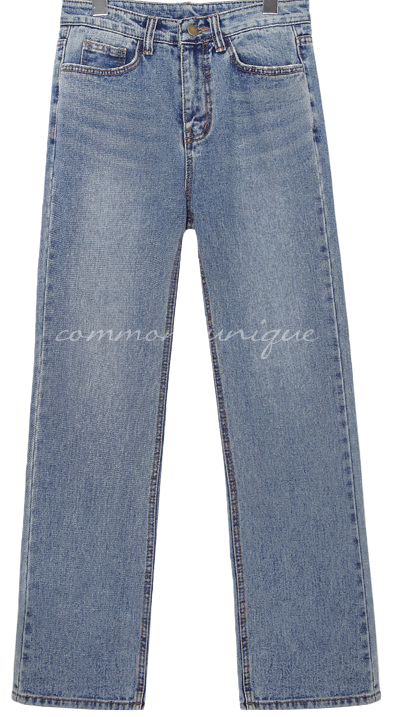 ABOUT STRAIGHT DENIM PANTS