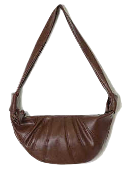 twist leather fanny bag