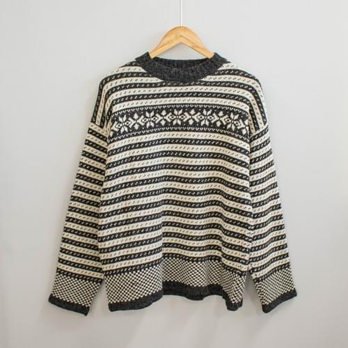 Roller Nordic pattern knit
