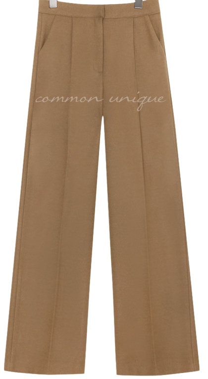 BY WOOL PINTUCK WIDE SLACKS