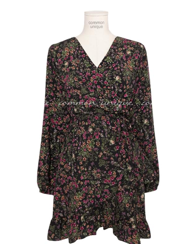 HOLLY FLOWER FRILL UNBAL WRAP OPS