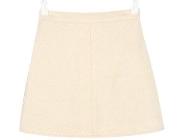 second wool mini skirt
