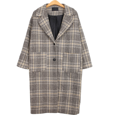 Bainat check coat