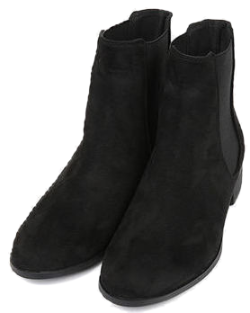 minimal suede boots