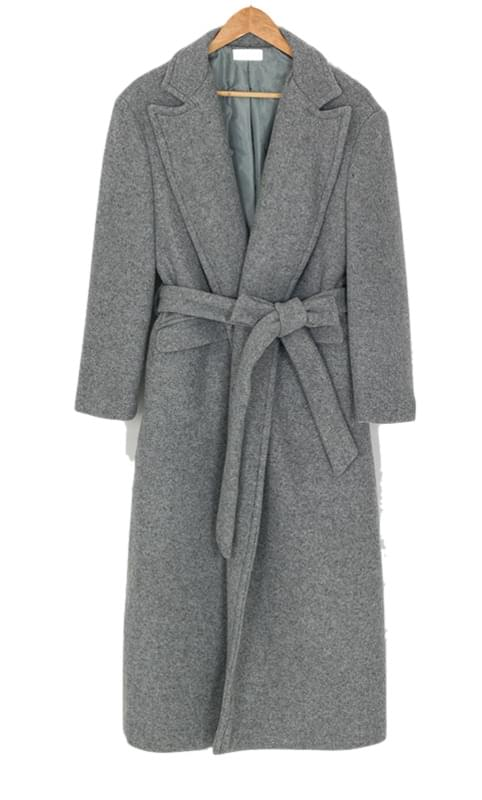 robe maxi wool coat