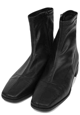 square line middle boots