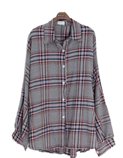 Shearing pudding check shirt