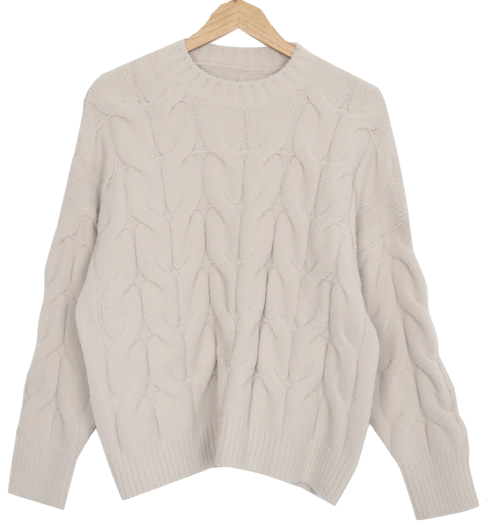 Fresh cream knitwear