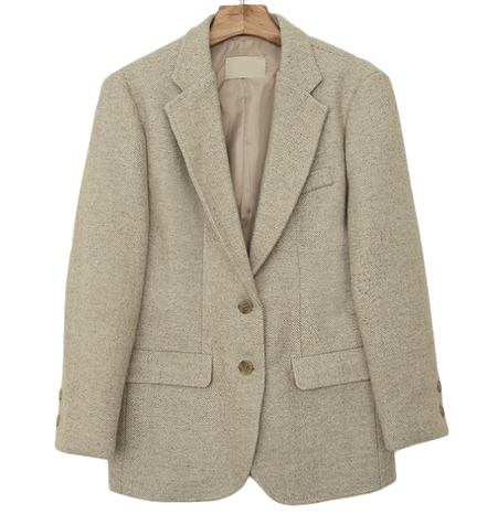 Taylor Herringbone Wool Jacket