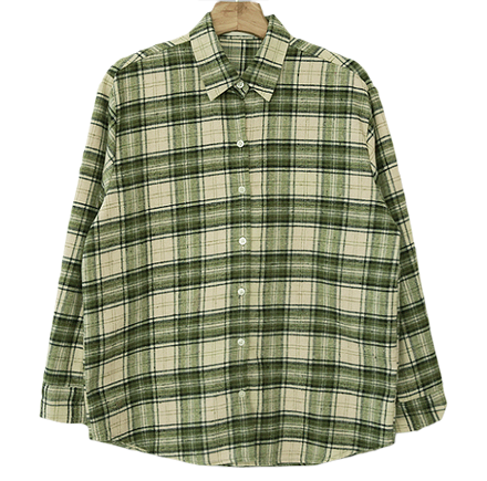 Woodtone check flannel shirt
