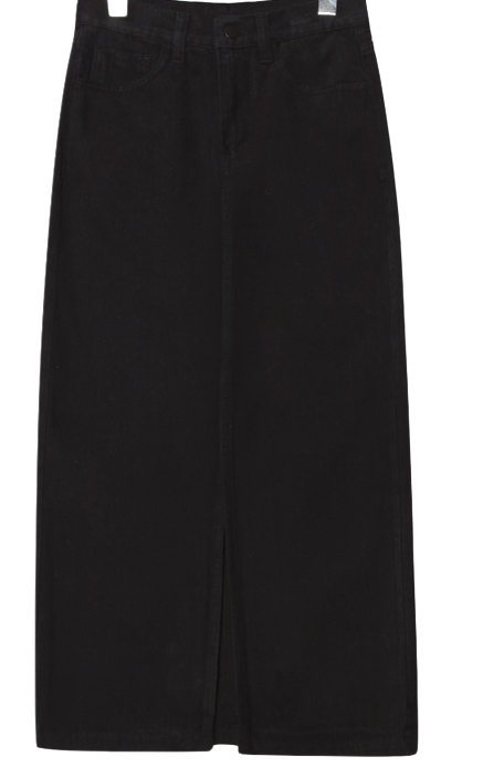 VINTAGE DEEP SLIT LONG SKIRT
