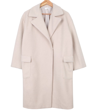 Wool pocket tuck coat