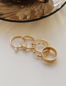 Peace pearl ring set_S