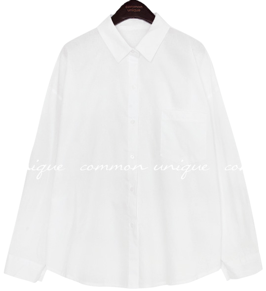 LEONARD BASIC POCKET COTTON SHIRTS