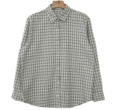 Windows grid check shirt