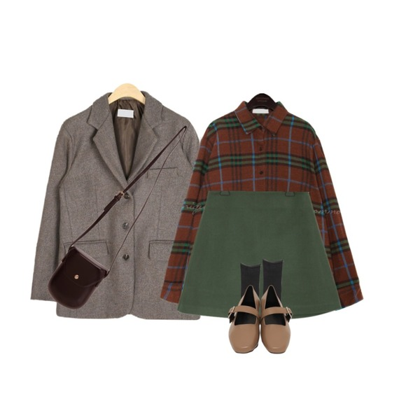 AIN peace mannish wool jacket,common unique [TOP] CHECK NAPPING WOOL UNBAL SHIRTS,Zemma World 기획특가/ Windy-울스커트(울20%)등을 매치한 코디