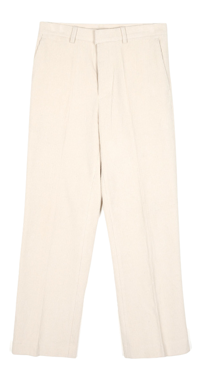 straight-fit corduroy slit pants - UNISEX