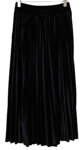 Velvet Lara Pleated Long Skirt