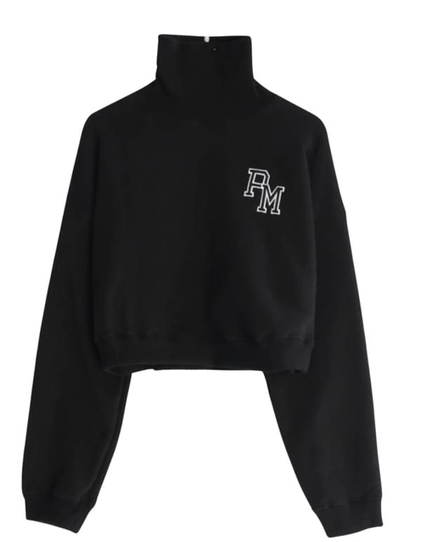 PM Patch Cloth Brushed Man-to-man