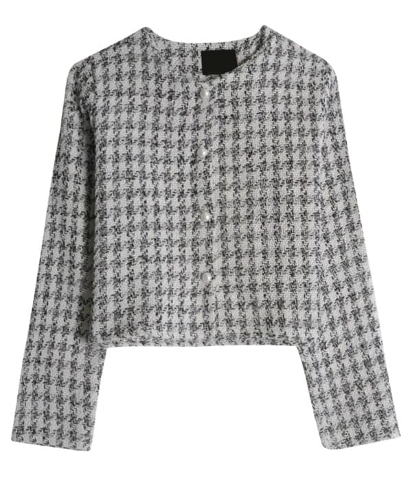 Shine Tweed Short Jacket