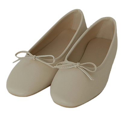 Ribboning-Malten Flat Shoes
