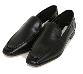 point square line loafer