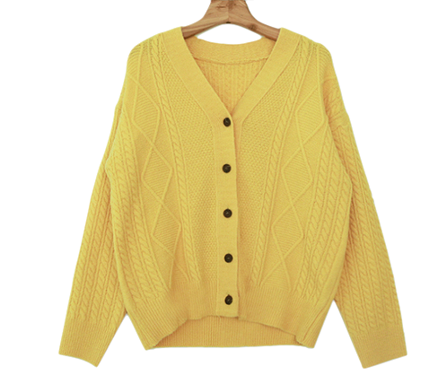Honey cable cardigan