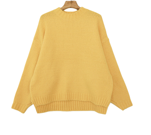Knit wool wool acute color loose knit