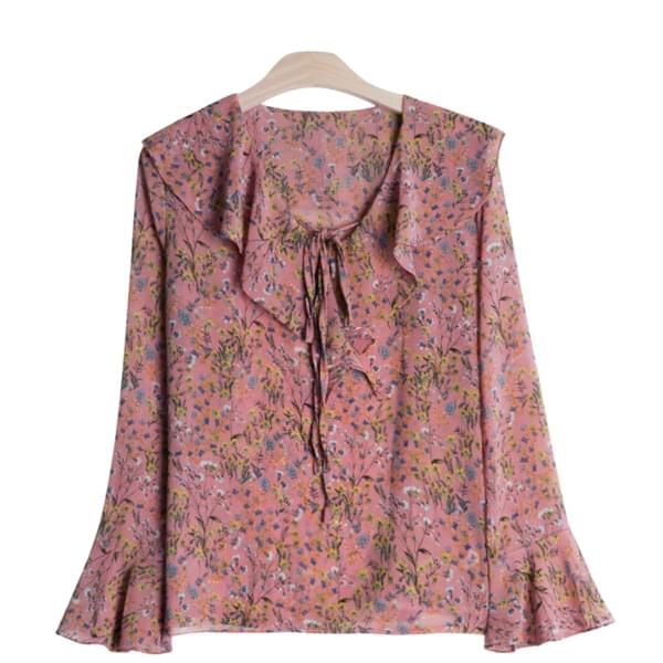 Ruffle Flower Blouse