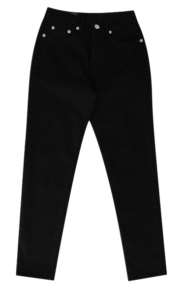 2018 Winter Cheese black jean (flat brushed)