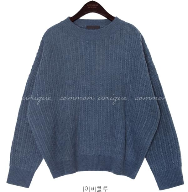 5 COLOR DROP ROUND NECK KNIT