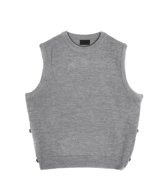 side button knit vest - UNISEX