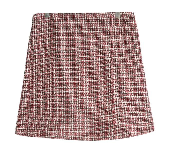 Rose tweed skirt