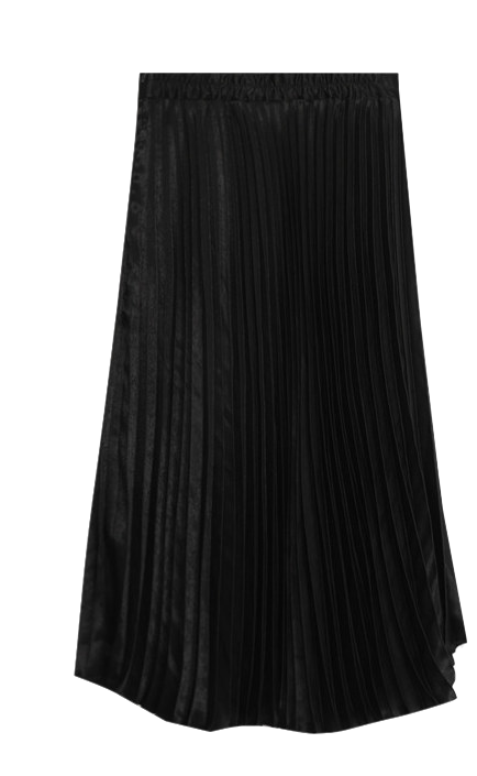 Anpur pleated long skirt