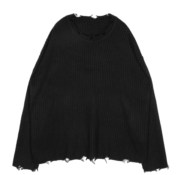 grunge damaged knit - UNISEX