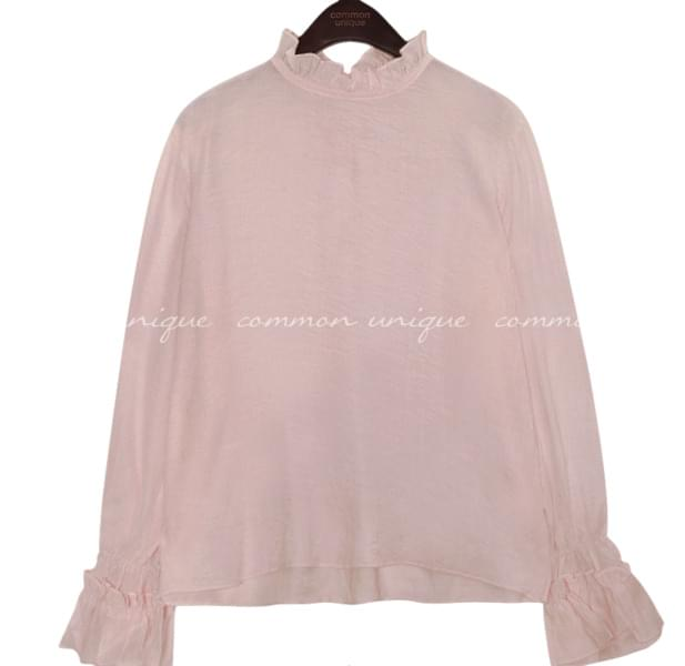 FIND FRILL SEETHROUGH BLOUSE