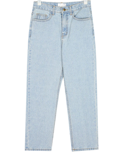 regular straight denim pants